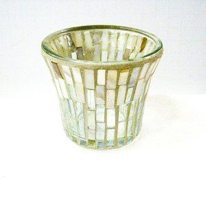 Yankee Candle Mosaic Mother of Pearl Votive Holder